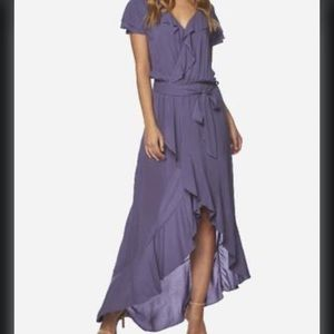Anthropologie On The Road Ruffle High Low Dress